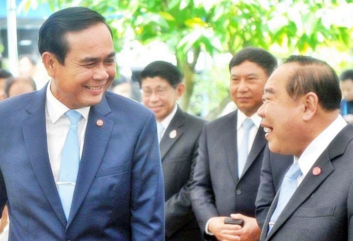 Thai PM And Deputy PM Share A Joke