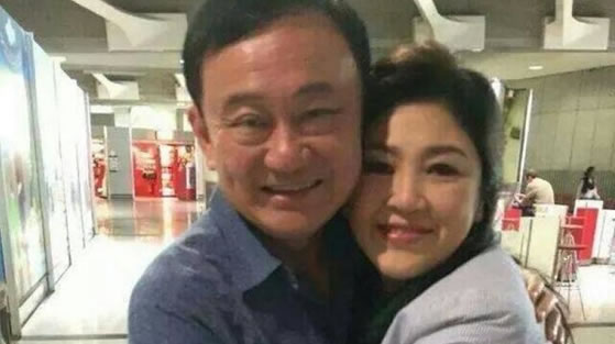 two former thai prime ministers thaksin and yingluck shiniwatra