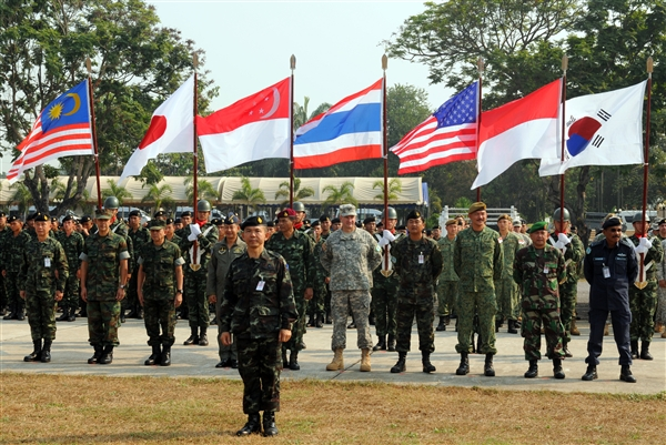 Cobra Gold military exercises in Thailland with Thai, US forces and five other countries participating