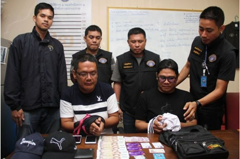 Scam gang members arrested by Thai police