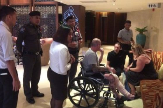Bizarre story of UK man who threw himself off hotel balcony in fraud attempt