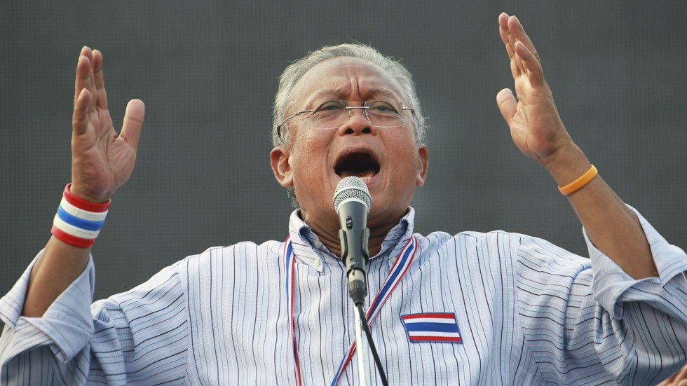 Former protest leader Suthep Thaugsuban returns to the political arena in Thailand