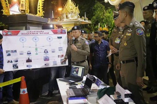 Thai police explain the romance scam operations that have lured many Thai women into losing money online