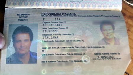 Passport of Italain man with Thai girlfriend murdered in Phichit province Thailand