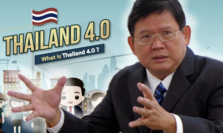 Thaland 4.0 Thai Minster Suvit Maesincee outlines the vision for a new, high income Thailand with less inequality and more balance
