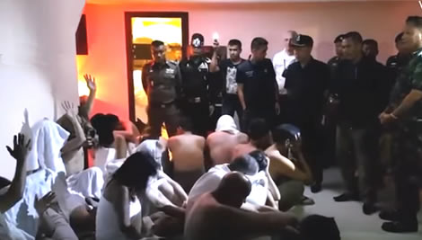 Thailand's sex industry crackdown sees westerners rounded up at hotel orgy in Pattaya – brothel raided