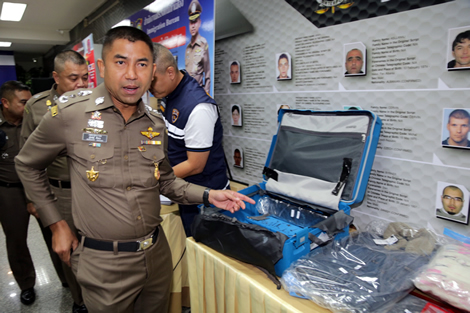 Thai police bust Iranian Yakuza drug smuggling operation using duped holiday travelers from Japan