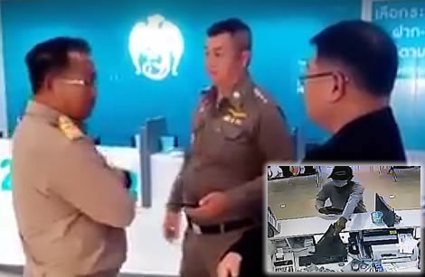 Thai police arrest army Lieutenant in Buriram province for Christmas Eve armed bank robbery of ฿1 million