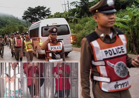 7 young men accused of raping a schoolgirl in Northeastern Thailand behind bars as police investigate