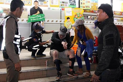 Thai police in Pattaya investigating American tourist's claim that he was robbed by a taxi driver who drove off