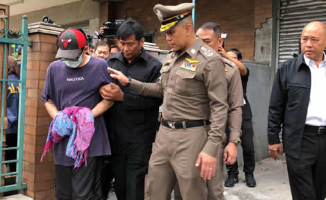 thailand-cannabis-production-thai-police-bangkok-arrest-teacher-raid-law-products-online