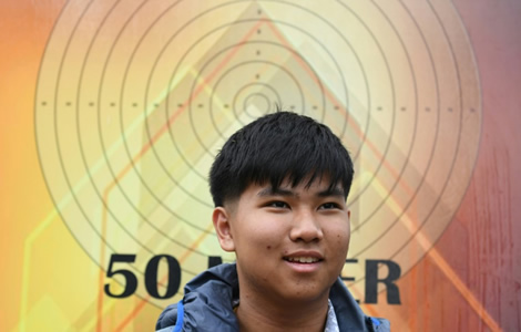 Thai boy from Nakhon Ratchasima aiming for Gold in shooting World Cup tournament in India this week