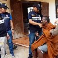 African man tried hide from immigration police in Thailand by posing as a Buddhist monk in Sa Kaeo