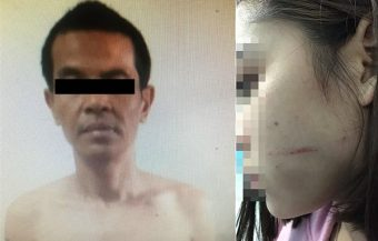 Thai woman fends off perverted attacker who emerged from under her bed naked and with a 6 inch knife