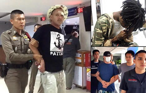 pattaya-police-thai-woman-french-bhutanese-theft-foreign-criminals