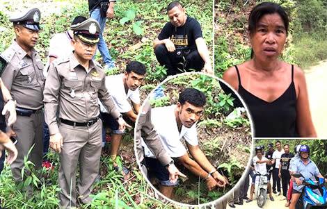 german-man-thai-wife-ko-samui-motorbike-highway-robber-police-arrest