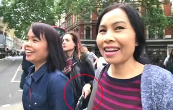 Thai women fall victim to London's pickpocketing problem which targets Asian tourists to the city