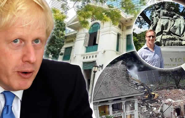 Fury As British Embassy In Ploenchit Bulldozed Sold To The Central Group For Nearly 16 Billion In Record Deal Thai Examiner