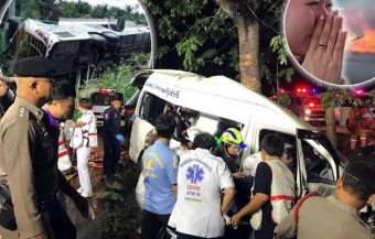 Fatal passenger van and bus accidents on Tuesday caused by drivers who fell asleep at the wheel in the early hours