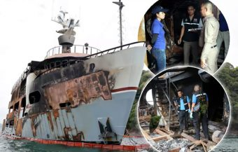 Luxurious interior contributed to the Lady D fire as police intially suggest the yacht was insured
