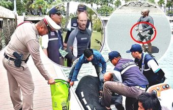 Pattaya's Canadian hellraiser tells police he has 'suicidal tendencies' as he taunts officers in cuffs