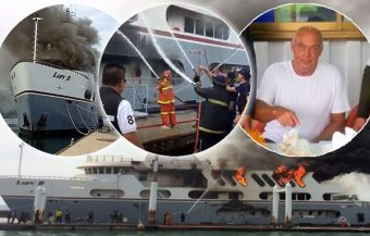 Fire aboard superyacht in Phuket began in the engine room. Lady D towed out to sea yesterday