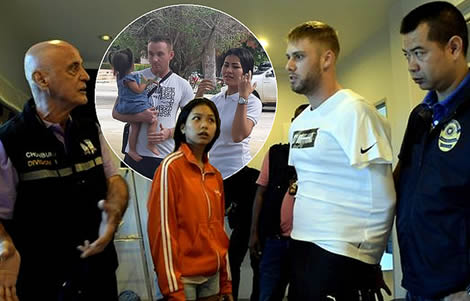 uk-men-drugs-pattaya-thai-police-officers-arrest-plymouth-man-michael-timmins-daniel-woods
