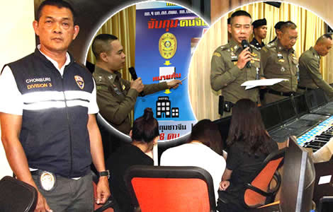 chinese-tourists-arrested-thailand-pattaya-bangkok-thai-police-scams-online-gambling