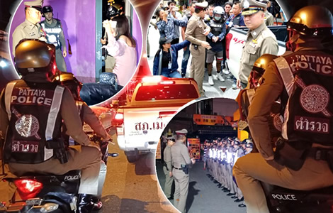 pattaya-police-alcohol-crackdown-after-bar-shooting-thai-suburb-rungland-bouncer-charged-murder