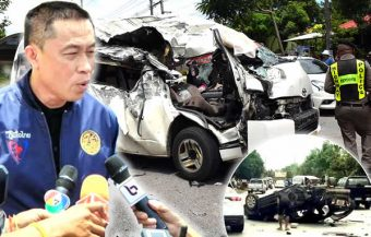 Another fatal passenger van crash in Sa Kaeo claims at least 5 lives as a car ploughs into it after losing control