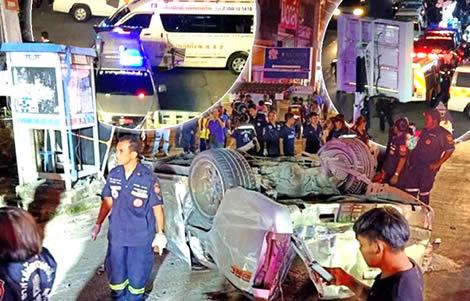 samut-prakan-pickup-truck-smash-accident-17-si-sa-ket-students-dead-police-driver-speed