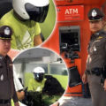 ATM robber arrested by police after his break-in attempts left him empty-handed except for cuffs