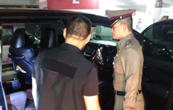 Police question two men including a Chinese tourist over the car ride death of his girlfriend in Bangkok
