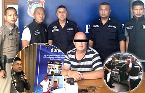 dutch-national-gerhadus-arrested-police-theft-camera-ko-tao-telecom-store-samui