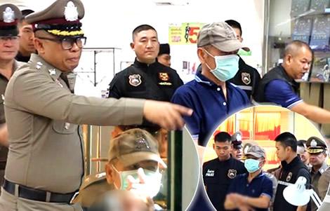gold-shop-robbery-khon-kaen-police-laos-crime-scene-suspect-returns-thailand