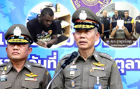 immigration-police-foreign-drug-dealer-arrested-crackdown-warning-found-flouting-visa-law-thailand