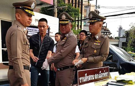 pattaya-thai-police-drugs-bust-network-5-drug-suspects-haul-1-million-methamphetamine-pills