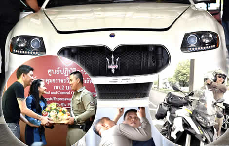 police-officer-traffic-panita-tumwattana-tv-actress-maserati-car-inevstiagtion-luxury-cars