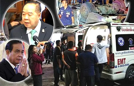 si-sa-ket-13-students-killed-pickup-truck-samut-prakan-return-to-families-2016-law-thai-police-pm