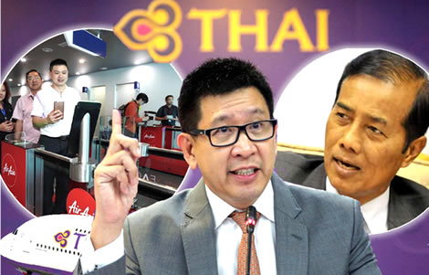 thai-airways-business-plan-deputy-transport-minister-air-asia-facial-recognition-technolgy-checkin-airports