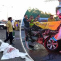 Six students cut out of passenger van smash after driver is killed on the road to Bangkok in the early hours