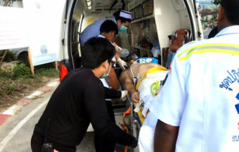 German tourist dies after rescue from the local beach in Phuket after being hit by a boat propeller