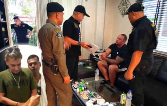 UK man arrested on drugs charges by CSD police in Pattaya claims ex Thai wife set him up