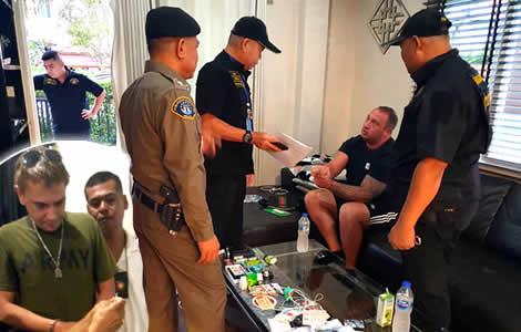uk-man-mark-rumblearrested-thai-wife-police-pattaya-drugs-charges-ko-pha-ngan-matthew-beresford