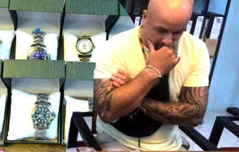 UK man faces jail and deportation after his arrest in a Pattaya police sting for selling fake watches
