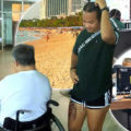 Pattaya police track Thai woman believed to have stolen a disabled Canadian's wallet at the beach