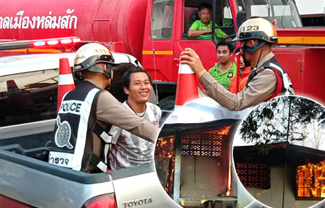 thai-man-burns-home-alcohol-girlfriend-police-mad