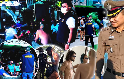 foreigners-arrested-breaking-emergency-decree-pattaya-ko-pha-ngan