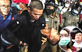 Protest leader blacked out after illegal attempt to rearrest him on Friday night in Bangkok failed after fracas