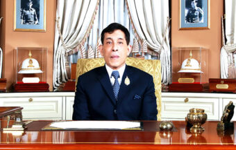 King tells people to rely on their own culture to bring about strength and security for the New Year in Thailand